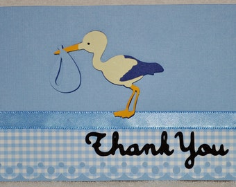 Baby Boy Thank You Cards  set of 12