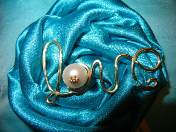Wedding Ringbearer Pillow Dupioni Silk Love Script