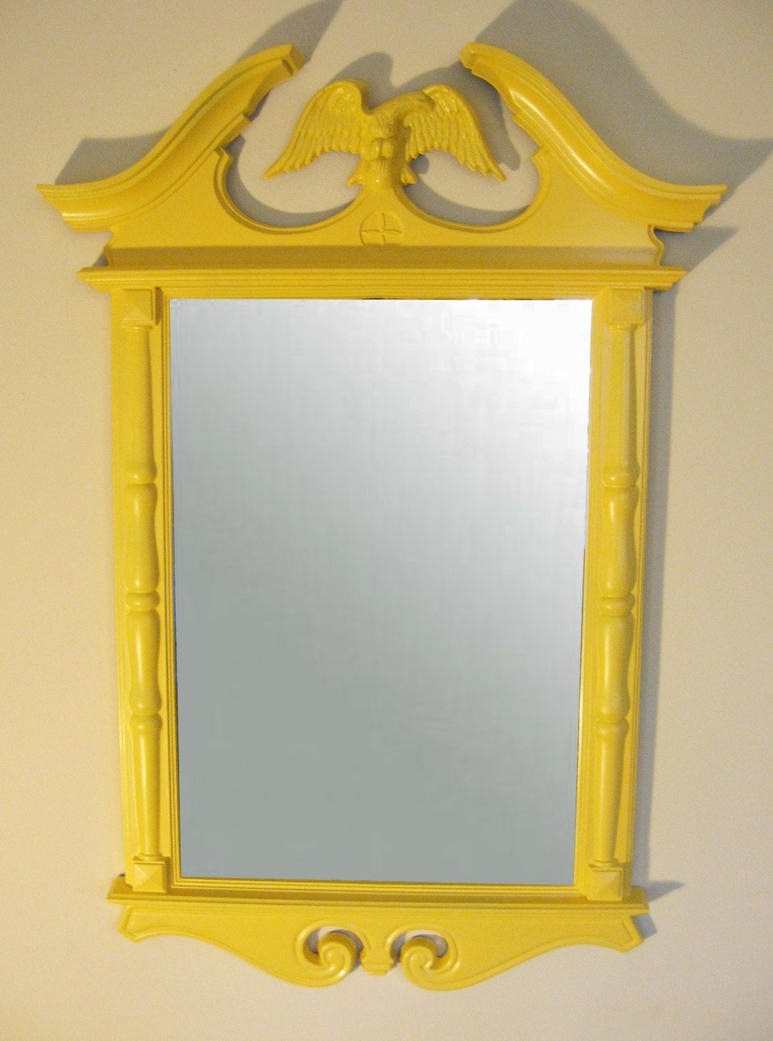 Colonial Eagle Mirror Upcycled Plastic Turner Co Frame In