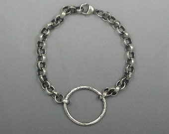 Sterling Silver Textured and Oxidized Bracelet Brac-113