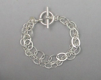 Silver Multi-Chain Bracelet Brac-103