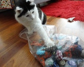 Five Organic Catnip Cat Toys made from Recycled Materials