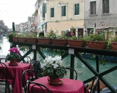 Venetian Cafe Romantic Canal side table setting - Island of Murano Photography