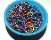 Jump Rings Mutlicolor Mix 6.4mm 18 gauge