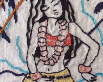 HAWAIIANA - Hand Embroidery Pattern PDF
