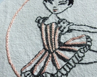 BALLET - Hand Embroidery Pattern PDF