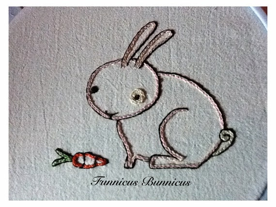 FUNNICUS BUNNICUS - Hand Embroidery Pattern