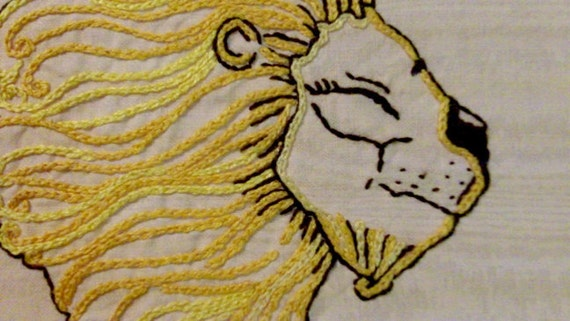 Circus Lion - DIY Hand Embroidery PDF Pattern