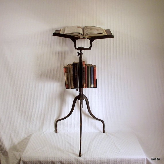 Antique Metal Dictionary Stand
