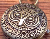 Steampunk Owl Fob Watch Necklace