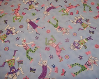 KELLY RIGHTSELL - Fashion Frogs 100% COTTON Fabric