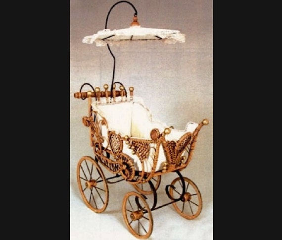 Victorian Wicker Amp Lace Doll Buggy
