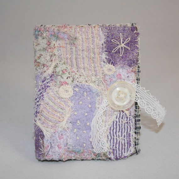 Embroidered and Embellished Upcycled Needle Book