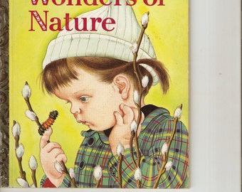 """Vintage Little Golden Book THe Wonders of Nature """"A"""" 1st Ed. 1957S&S Publisher Near Mint"""