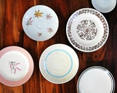 Vintage Collection of Plates, Home Decor, Instant Collection