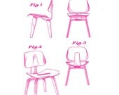 Charles & Ray Eames Molded Plywood Chair - Magenta
