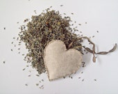 Spring SALE- Lavender sachet organic- heart pillow- ornament-shabby chic- reduced from 7.50