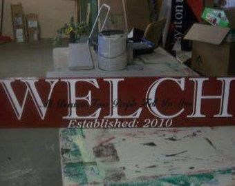Last name Home Decor Sign