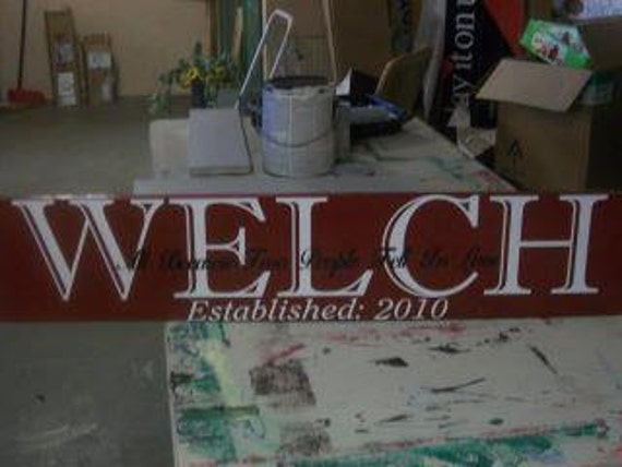 Last name Home Decor Sign by SudsScentsandMore on Etsy