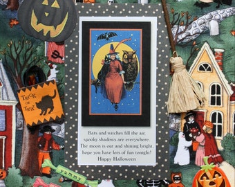 Halloween Decor: Collage Art (Trick or Treating)