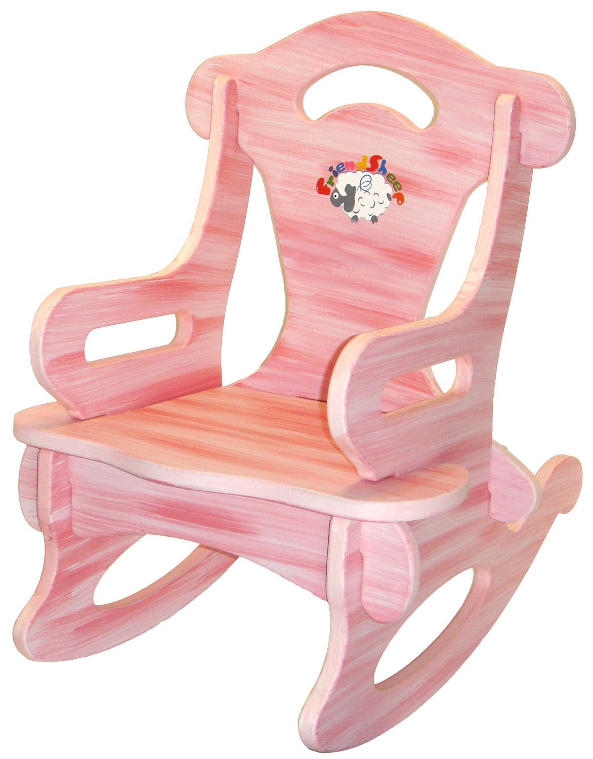 Pink Puzzle Rocker Rocking Chair Solid Wood for by dazzlecrystal
