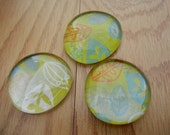 Green and Leafy Decorative Magnets - Set of 3