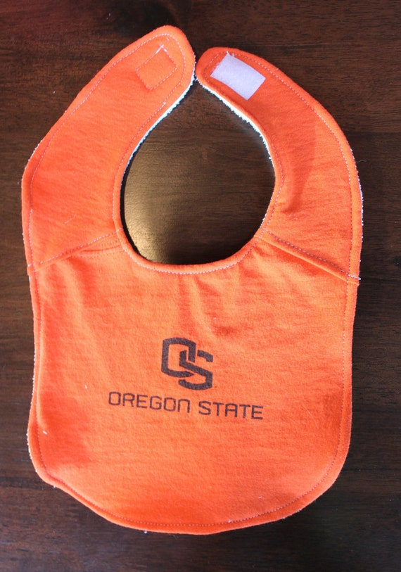 Upcycled T-Shirt Bib - Made from Oregon State Shirt