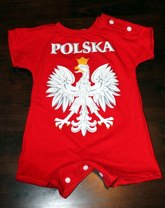 Upcycled Romper from Polska Shirt - 6-12mo