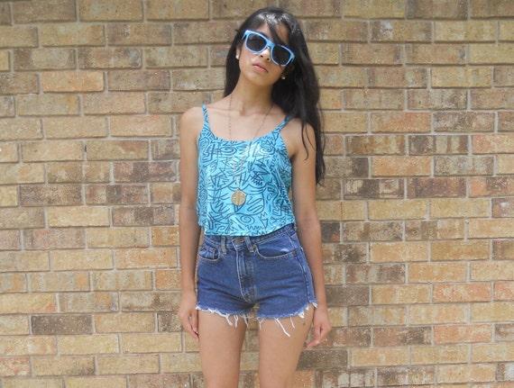 High Waisted Denim Cut Off Jean Shorts