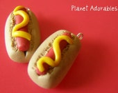 Hot Dogs (Polymer Clay Jewelry Charms)