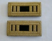 RESERVED FOR SHERRY Matched Pair of Gold Bullion Military Epaulettes made in India