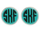 Monogrammed earrings with personalization