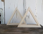 Set of TWO, 6 inch triangle wall decor, shadow boxes