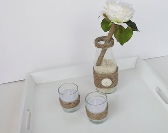 Rustic Wedding Pen Set with Candles