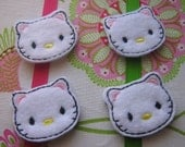 Wholesale Machine Embroidered Kitty - Four (4) Embroidered Felts