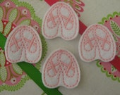 Wholesale Machine Embroidered Ballet Slippers - Four (4) Embroidered Felts