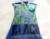 Mullet Style Halter Upcycled T-Shirt Dress - Girls, 2T