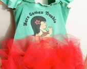 Here Comes Trouble T-Shirt Dress - Girls 2T