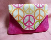 Peace Sign Wallet/Card Holder