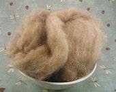 100% Brown Alpaca Roving - 4 oz.