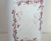 Cottage Chic Shabby Roseberry Vine Small Trash Can