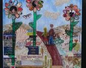 Personalized Mixed Media Memorabilia Collage