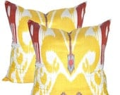 Set of 2 Ikat pillow covers(Shipping from London,UK).