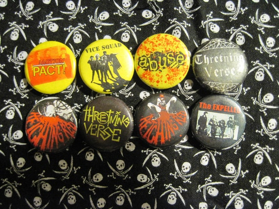 SALE /////// 8 Female Fronted Punk Pins/Buttons/Badges