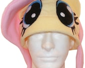 Fluttershy inspired Fleece Hat with Eyes - My Little Pony