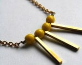 Eva Necklace - Yellow