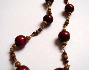 Red Cherry Bead Necklace