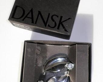 Dansk Leaf Candle Holders