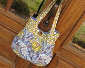 Pleated Purse/Small Tote in Amy Butler's Soul Blossoms Fabric-READY TO SHIP