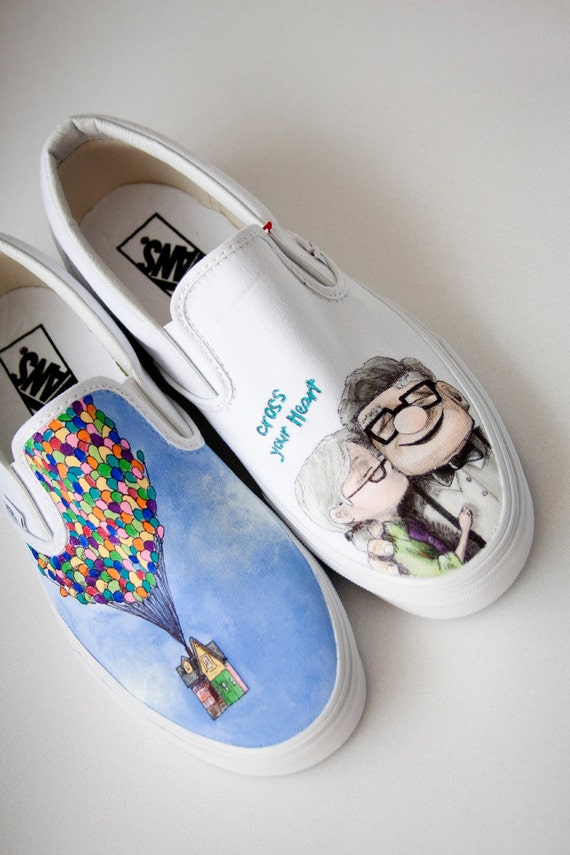 Custom Painted Shoes Up Wedding Theme- Reserved for Dee
